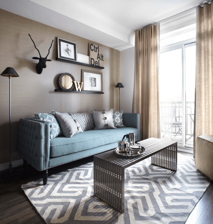 Sala pequena e simples