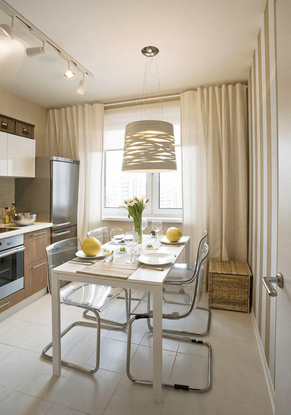 Sala de jantar pequena apartamento