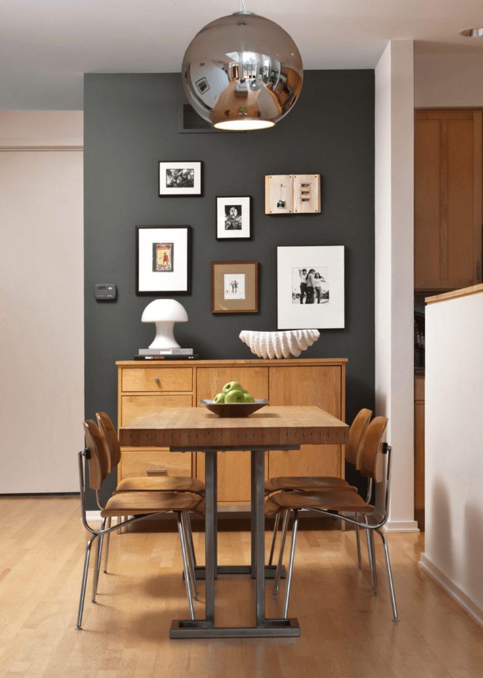 sala de jantar pequena e aconchegante