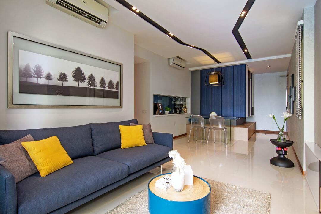 Salas pequenas apartamentos