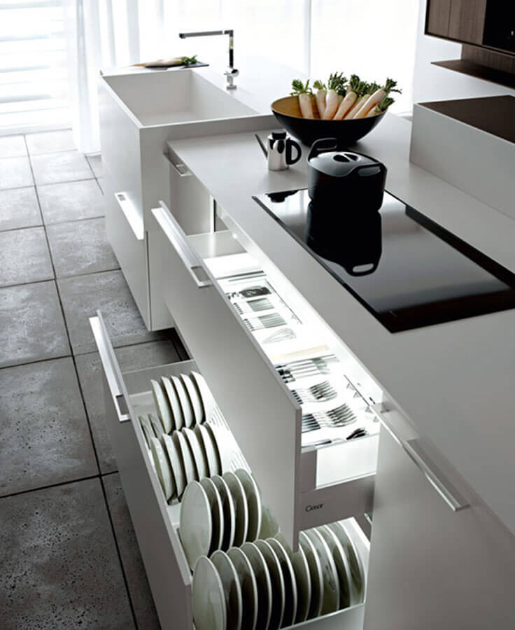 armários planejados para cozinha moderna