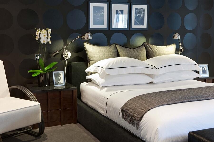 quartos decoraos com papel de parede