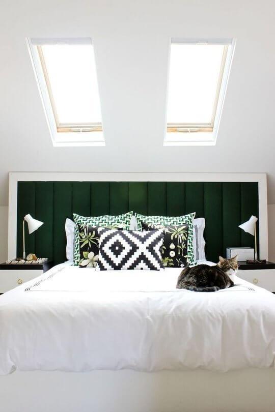 quarto de casal compacto decorado