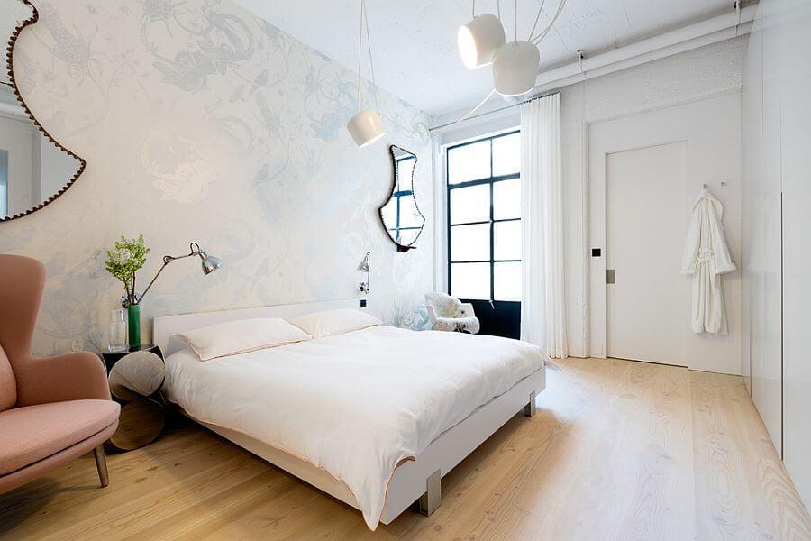 quartos de casal decorados claros