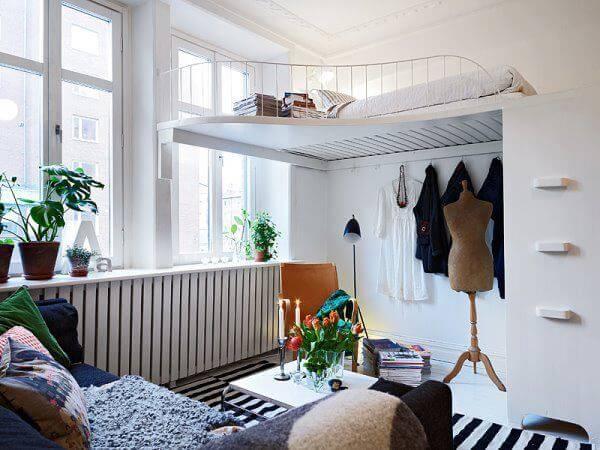 quarto de meninas com closet