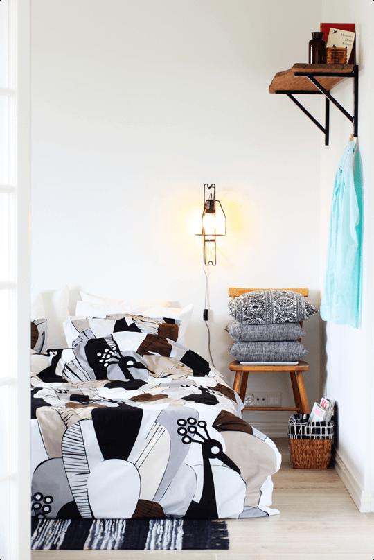 quarto feminino decorado estampa