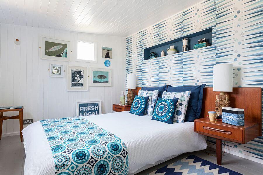 quartos decorados azuis
