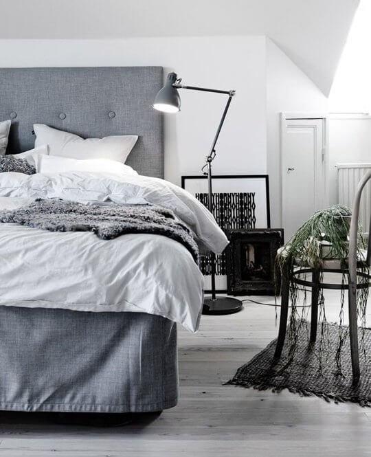 quarto decorado masculino cinza