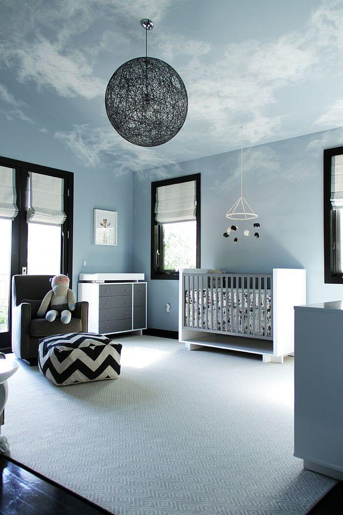 quarto de bebe decorado azul