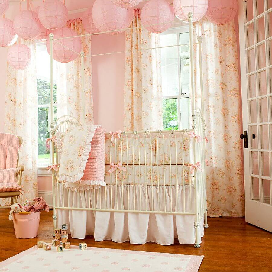 quarto de bebe decorado femininno