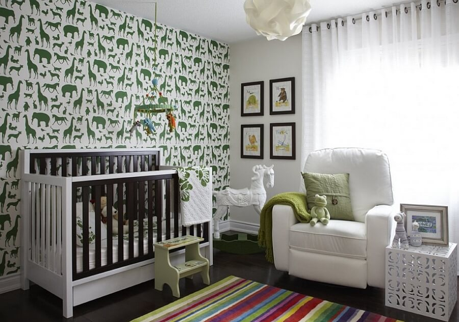 quarto de bebe decorado verde