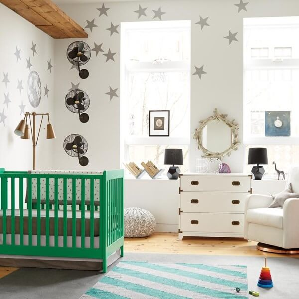 quarto decorado de bebe moderno