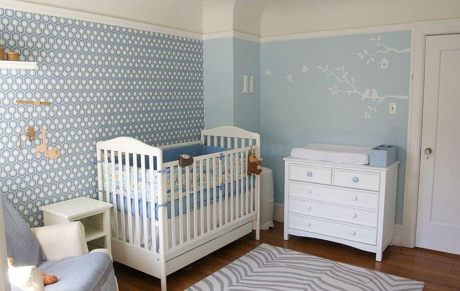 quarto decorado de bebê papel de parede