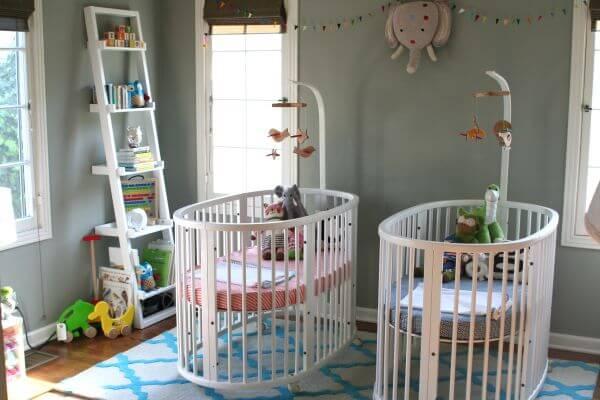 quarto decorado para bebes gemeos