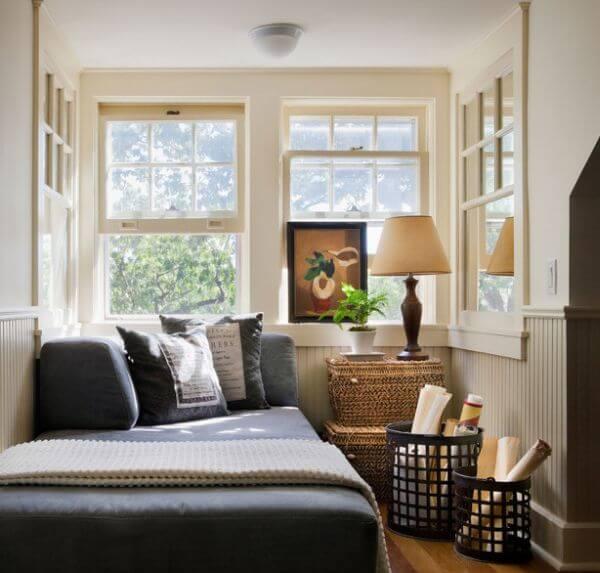 quarto compacto decorado