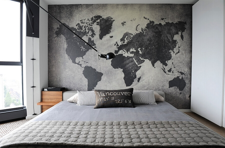 quarto de casal decorado pequeno e simples