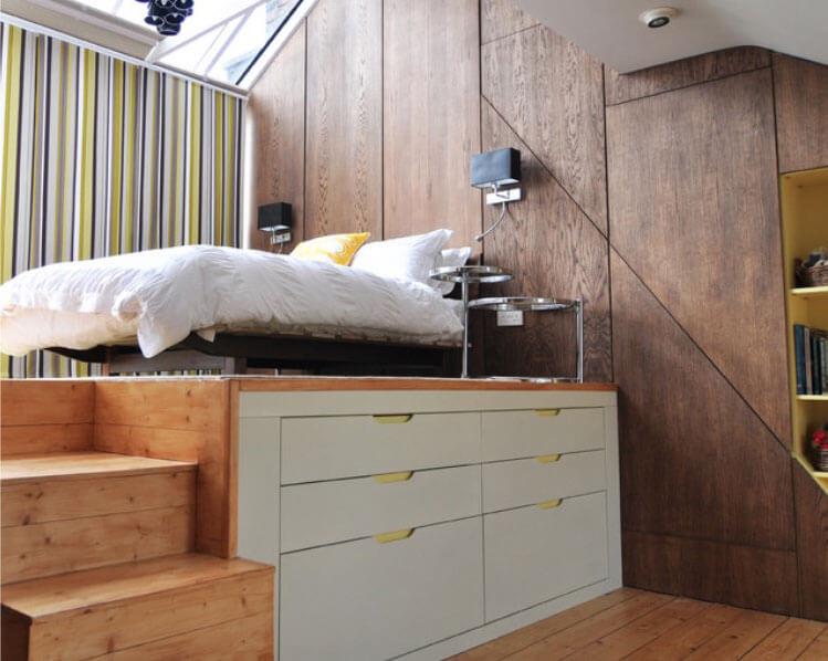 quarto decorado pequeno e simples