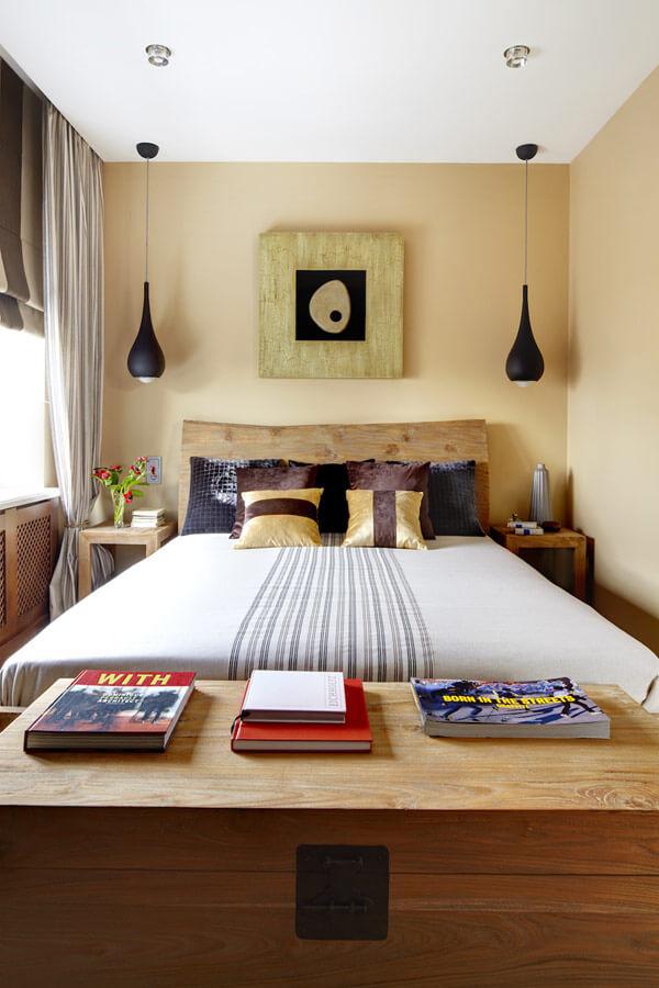 quarto pequeno bem decorado