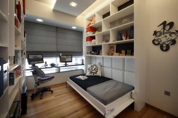 quarto pequeno e decorado