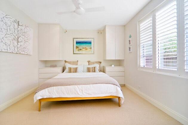quartos de casal pequenos decorados
