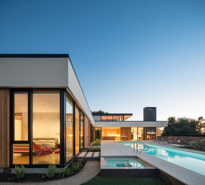 8 casas americanas fotos plantas e detalhes dos for Eco friendly beach house designs