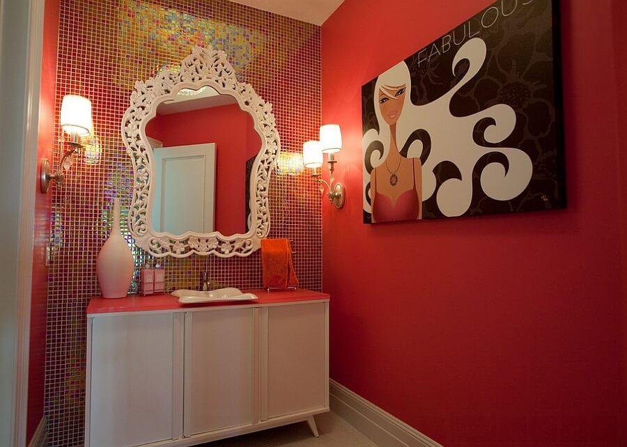 banheiro com pastilhas decorado