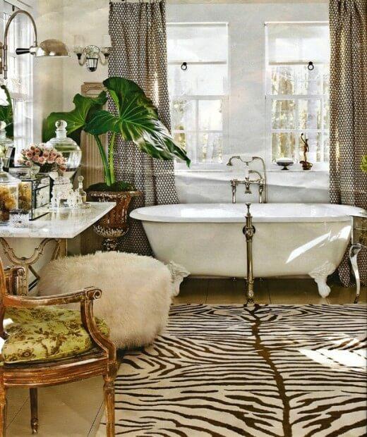 banheiro decorado com tapete