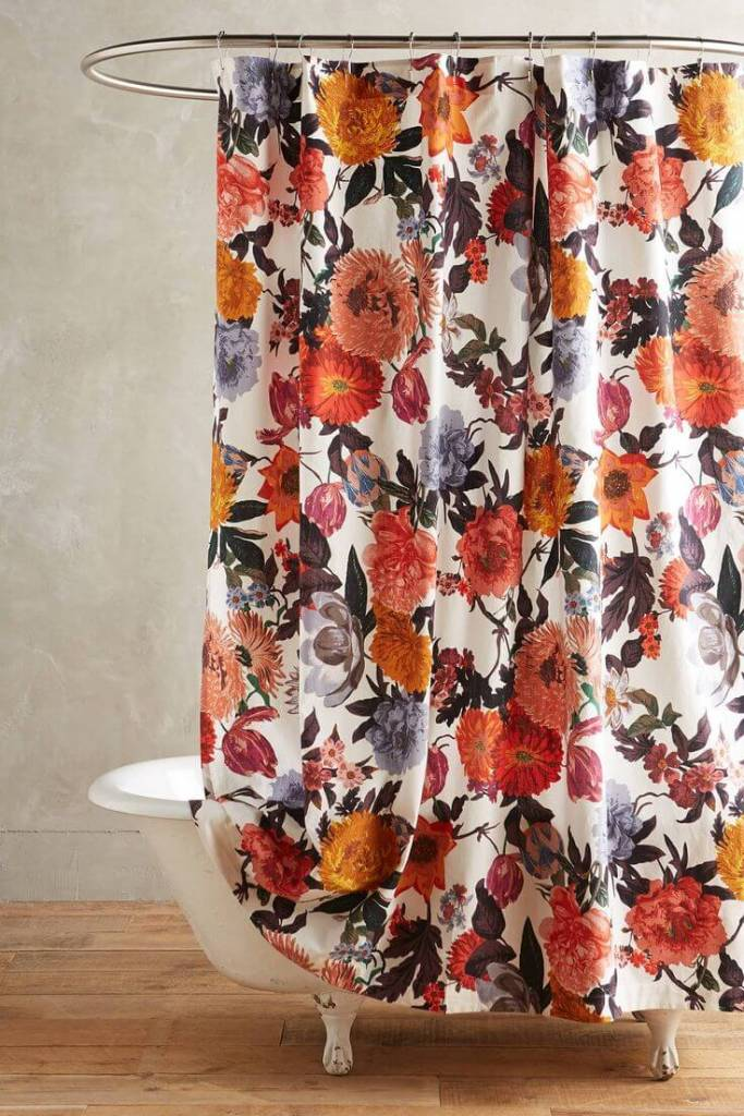 banheiros decorados com cortinas