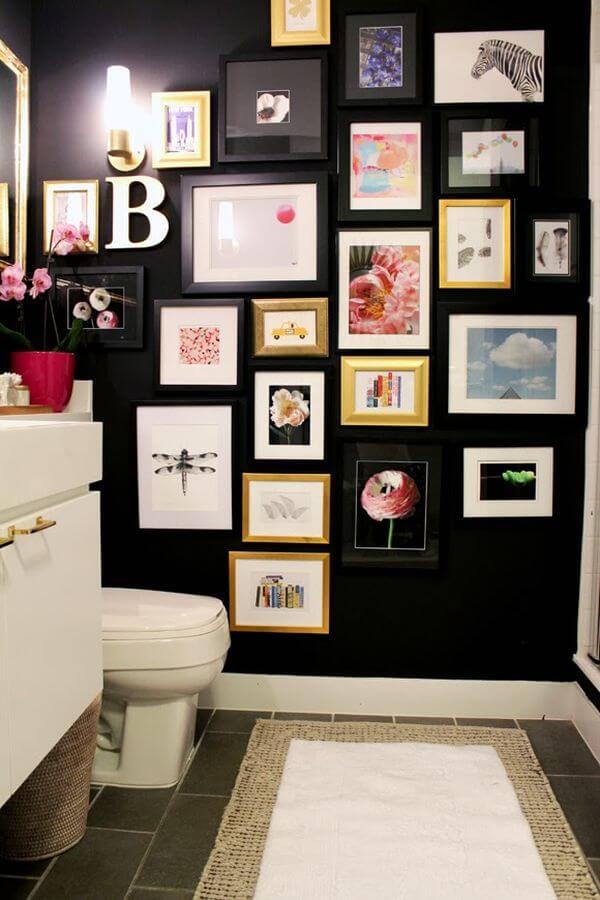 banheiros decorados com quadros