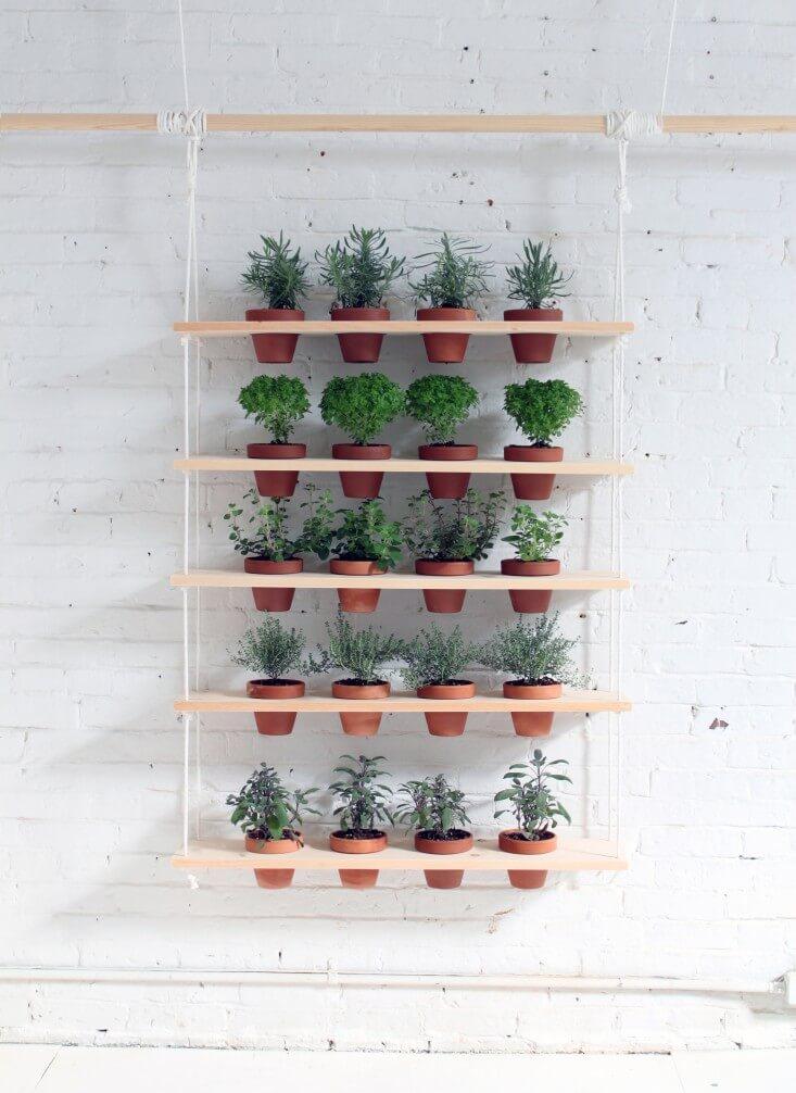 jardim vertical com vasos