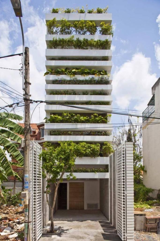 jardim vertical fachada