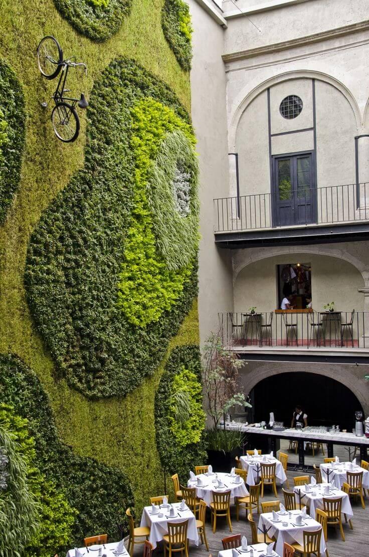 jardim vertical restaurante