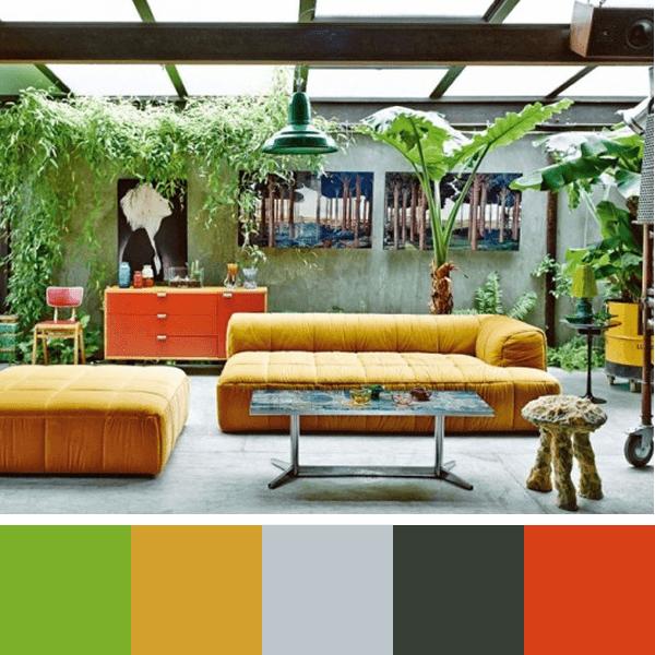 Paletas de cores para sala arquidicas for Ausgefallene einrichtungsideen