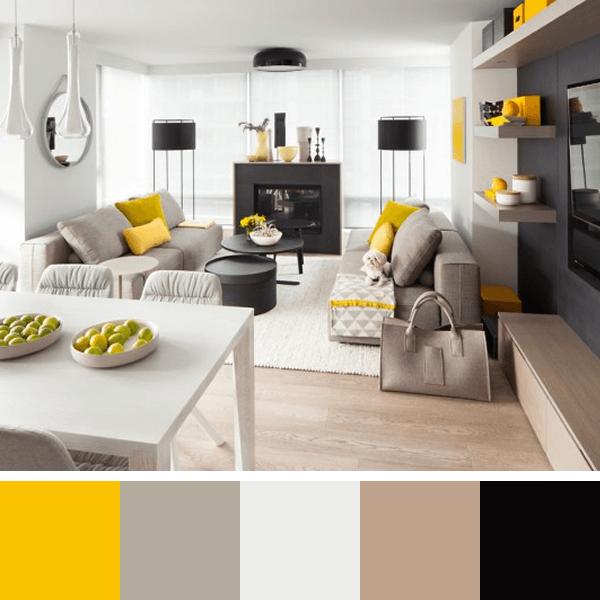 Paletas de cores para sala arquidicas - Armarios para sala de estar ...