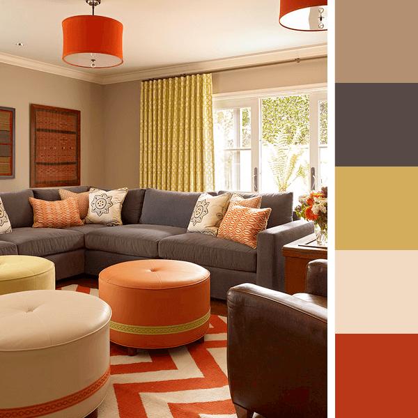 Paletas de cores para sala arquidicas for Paleta colores pintura pared