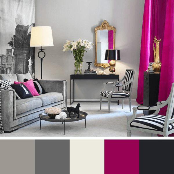 cores femininas para sala