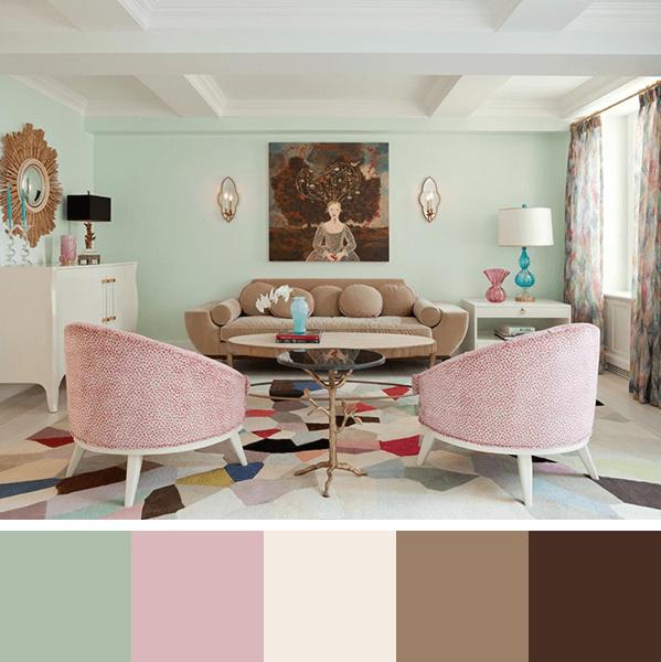cores para sala feminina