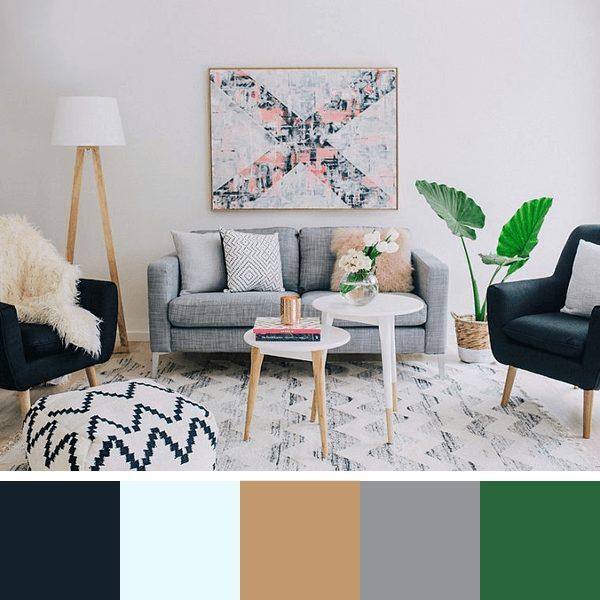 cores para salas pequenas
