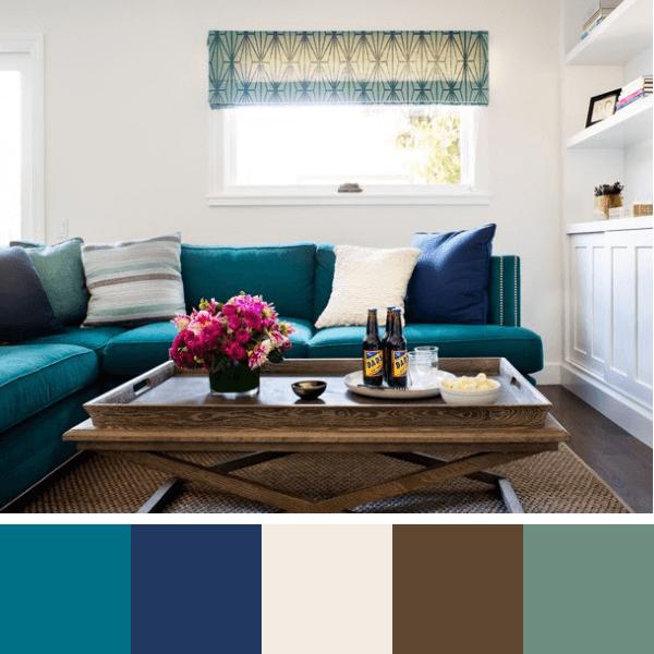 Sala De Estar Em Tons De Azul ~ sala azul e branco