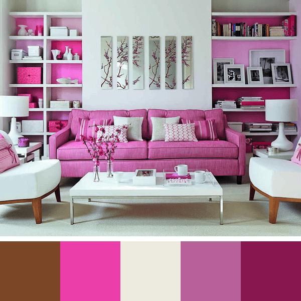 Sala De Estar Branca E Rosa ~ sala rosa