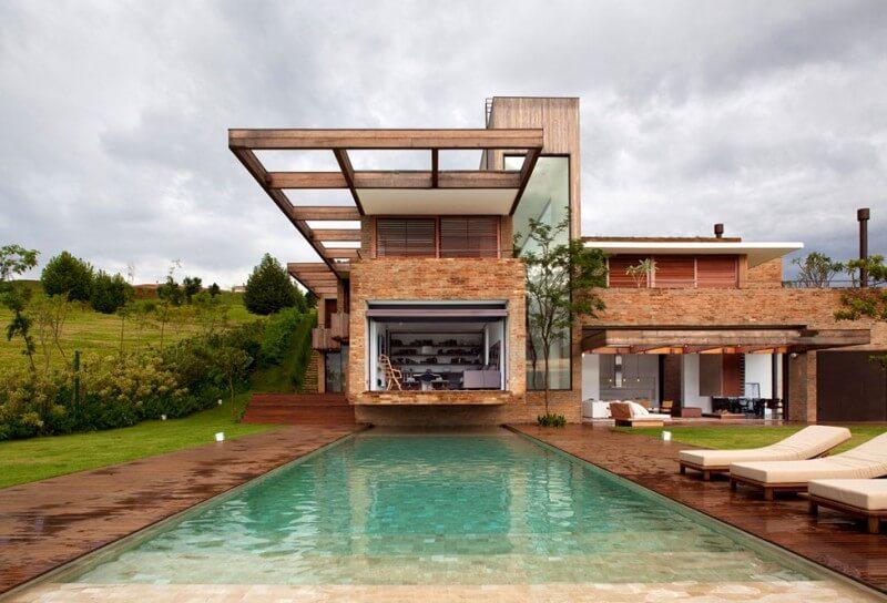casas de campo com piscina