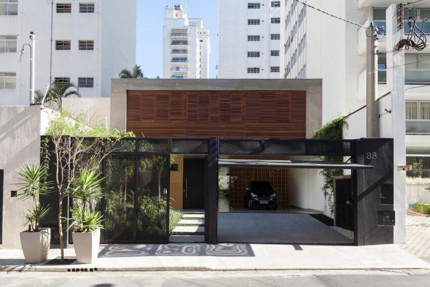 casa moderna com três quartos