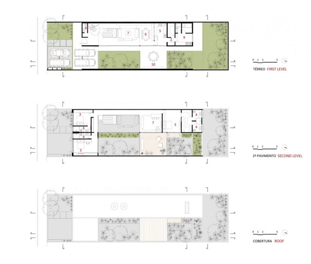 plantas de casas modernas com três quartos