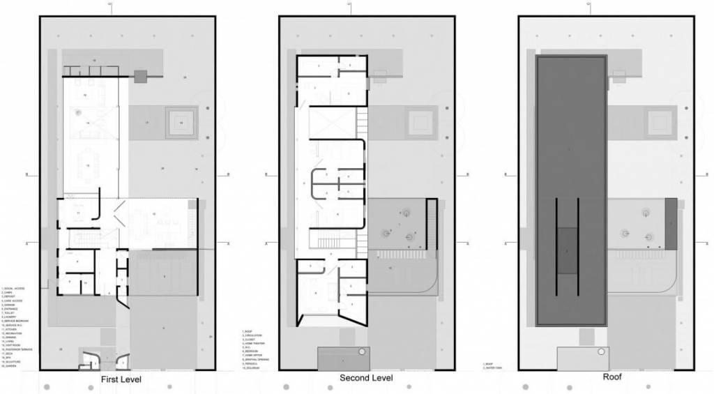 plantas de casas modernas com dois andares