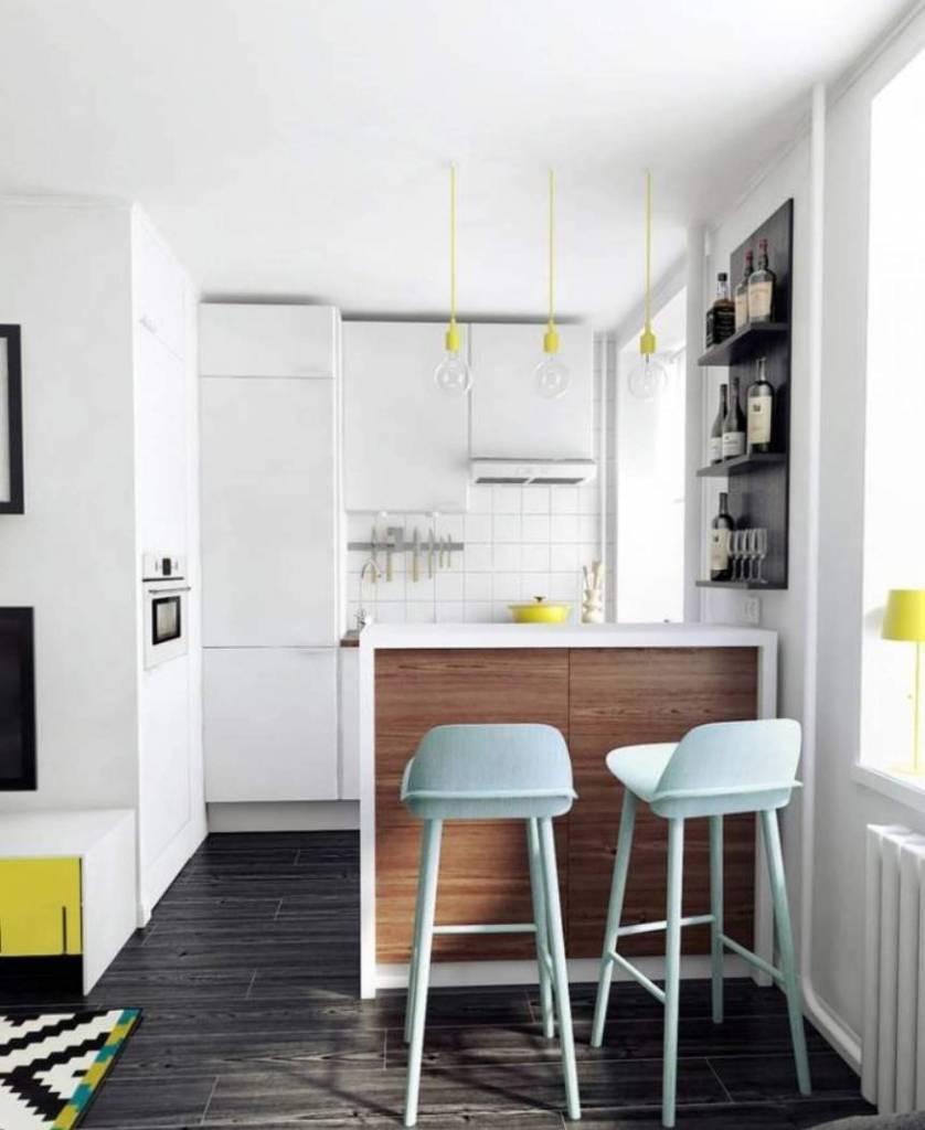 cozinha americana pequena apartamento