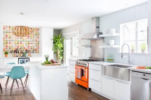 cozinha americana pequena decoração