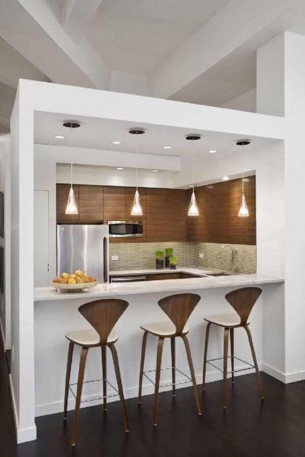 cozinhas americanas pequenas e simples
