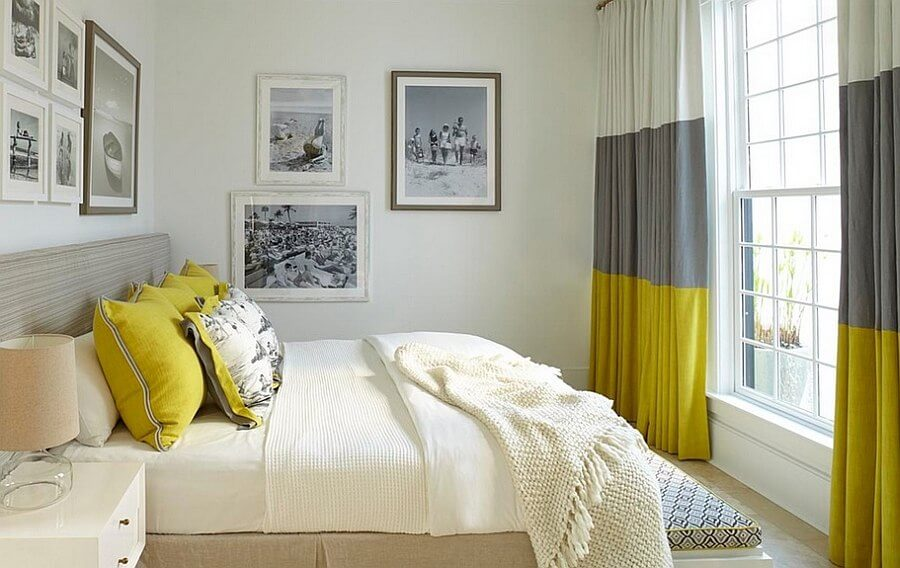 quarto com cortina planejada