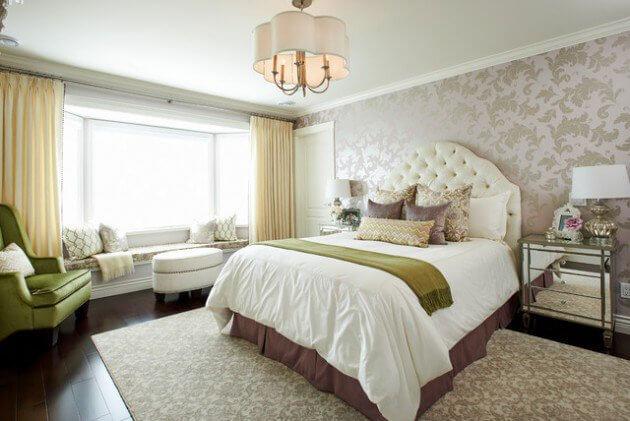 quartos planejados com papel de parede