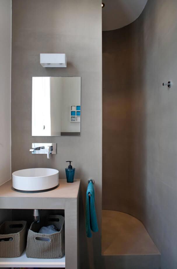 Ideias para decora o de banheiro pequeno arquidicas - Bagno piccolissimo in camera ...